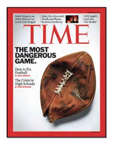 Time Magazine Cover-Footbal dangerous