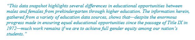 Dept of Ed Gender Equity Report start